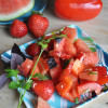 Salad #20 - Watermelon Salad with a Sesame Ginger Dressing