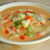 Frank's Buffalo Chicken Soup with Roasted Cauliflower - #52soups