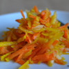 Salad #2 Shredded Yellow Beet, Carrot and Apple Salad with Orange Ginger Dressing