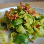 Salad #4 Brussels Sprouts Coleslaw with Candied Nuts