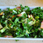 Salad #17 - Raw Kale and Brussels Sprouts Slaw with Bacon