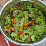 Salad #29 - Grilled Vegetable Salad with Greens and Mustard Dressing