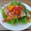 Salad #30 - Watermelon Salsa over Grilled Chicken and Greens