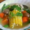 Chilean Cazuela de Ave - Chilean Chicken Soup - #52soups