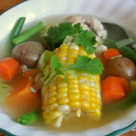 Chilean Cazuela de Ave - Chilean Chicken Soup - #52soups