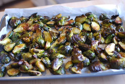 Roasted Brussels Sprouts - talkinginallcaps.com
