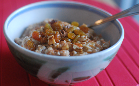 Carrot Cake Oatmeal - Slow Cooker Method