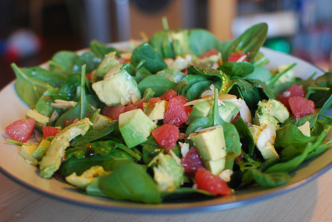 Avocado, Grapefruit and Spinach Salad Recipe