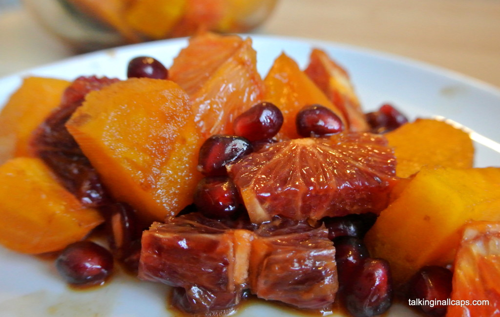 Blood Orange, Yellow Beet and Pomegranate Salad