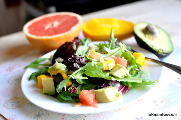 Avocado, Grapefruit and Mango Spring Salad