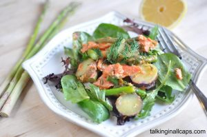 Salmon Salad with Asparagus and Baby Potatoes