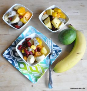 Thai Inspired Tropical Fruit Salad with Red Beans
