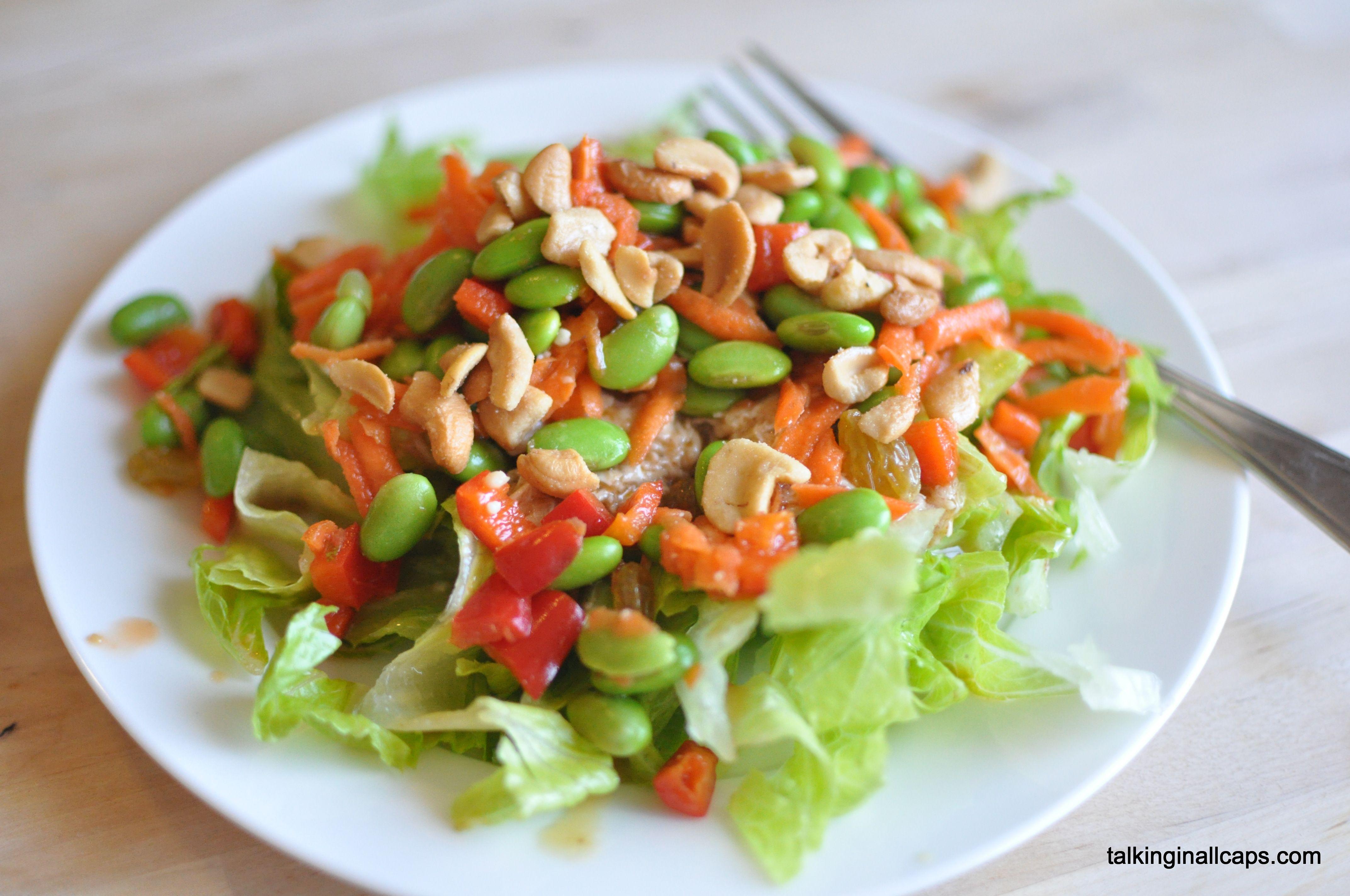 Salad #14 Chicken Edamame Salad with Miso Dressing - talkinginallcaps ...