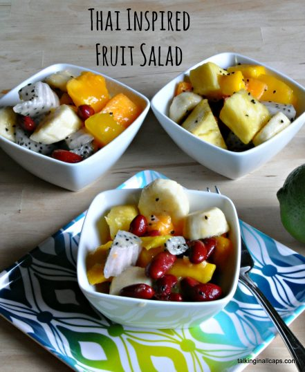 Thai Inspired Fruit Salad with Red Beans