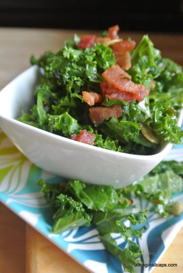 Kale Salad with a Bacon Vinaigrette
