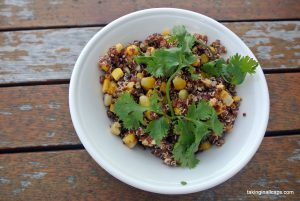 Mexican Street Corn Inspired Quinoa and Corn Salad