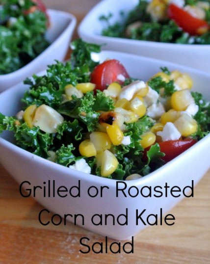 Kale Salad with Grilled Corn