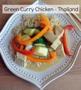 Green Curry Chicken - Thailand - Around the World in 30 Dishes - talkinginallcaps.com