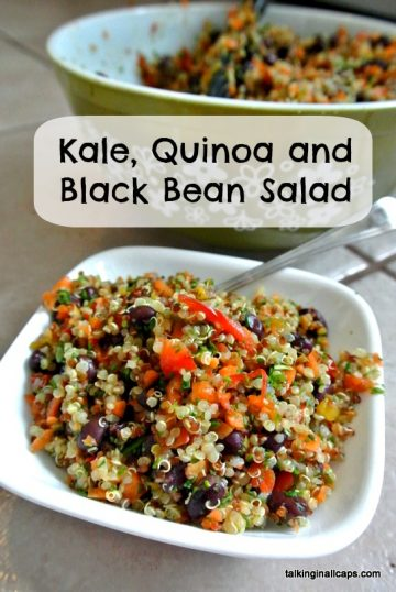 Kale, Quinoa and Black Bean Salad