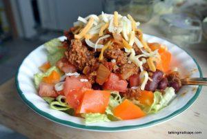 Healthy Taco Salad - talkinginallcaps.com