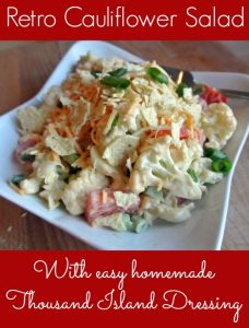 retro cauliflower salad - with easy homemade thousand island dressing