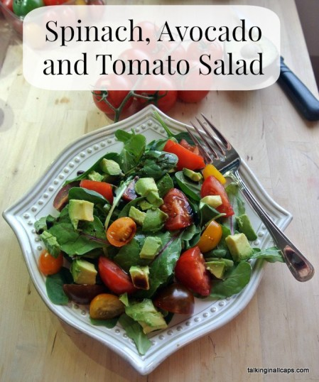 spinach avocado tomato salad