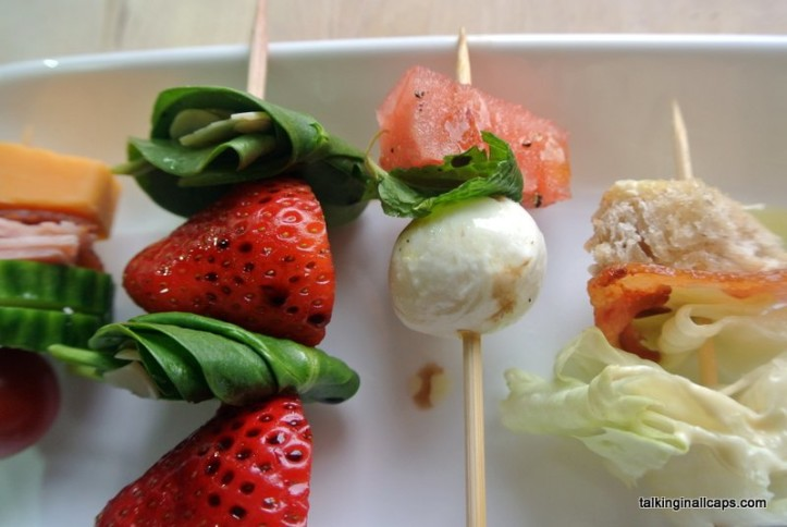 Salad on a Stick -12 Great Salads to Take to a Potluck or Feed a Big Group - talkinginallcaps.com