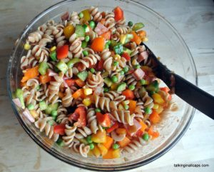 Fresh and Easy Pasta Salad -12 Great Salads to Take to a Potluck or Feed a Big Group - talkinginallcaps.com