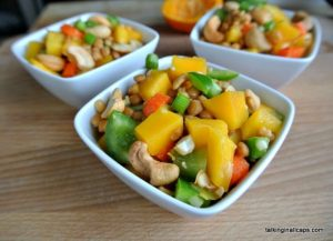 Asian Lentil and Mango Salad -12 Great Salads to Take to a Potluck or Feed a Big Group - talkinginallcaps.com