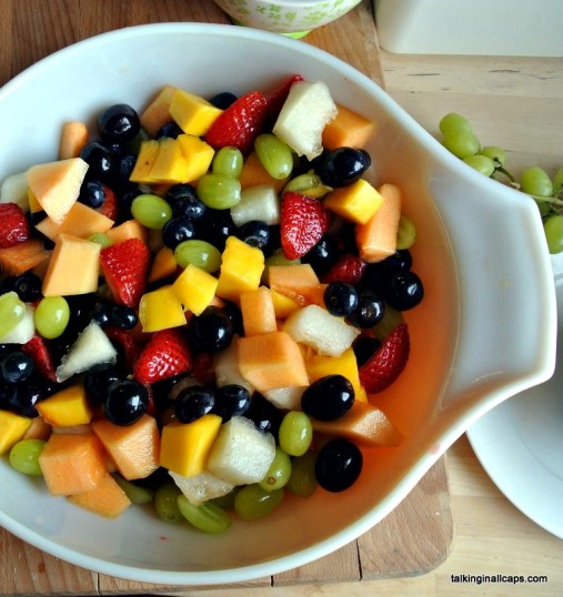 Rainbow Fruit Salad - 12 Great Salads to Take to a Potluck or Feed a Big Group - talkinginallcaps.com