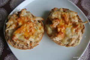 Chicken BBQ melts - easy meals- talkinginallcaps.com