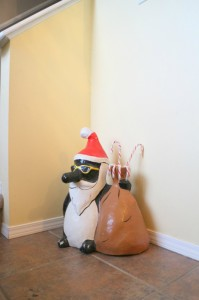 messy xmas Christmas Penguin - talkinginallcaps.com