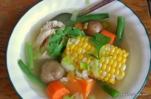 Chilean Chicken Soup - Cazuela de Ave