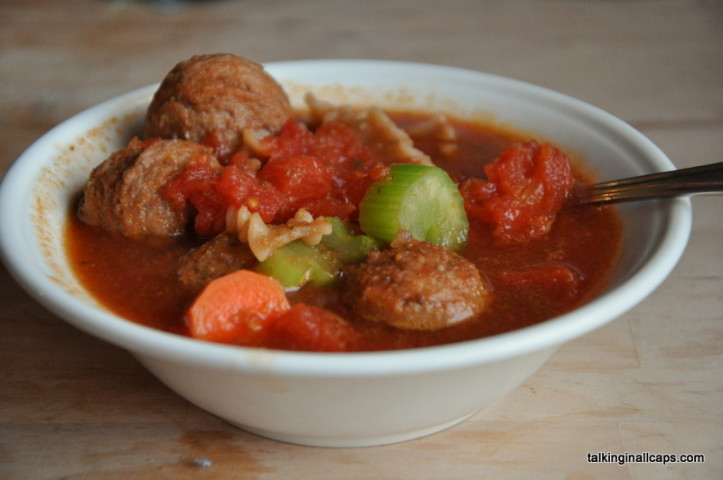 Simple Meatball Soup - #52soups