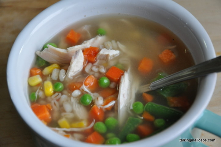 Easy Chicken and Barley Soup