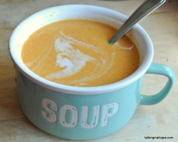 Curry Sweet Potato Lentil Coconut Soup - #52soups