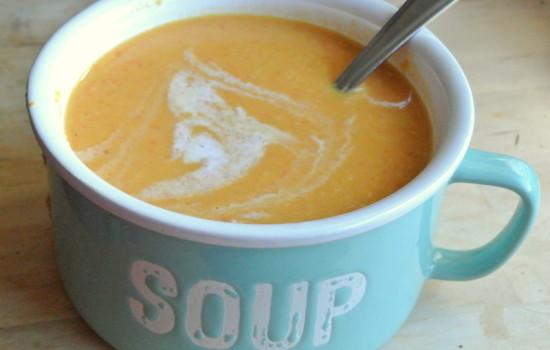 Curry Sweet Potato Lentil Coconut Soup - #52soups
